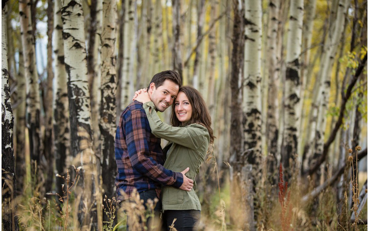 Evergreen Colorado Fall Mountain Engagement Photography | Danielle + Brian
