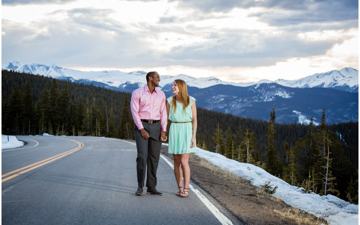 Colorado Mountain Engagement | DJ + Alli