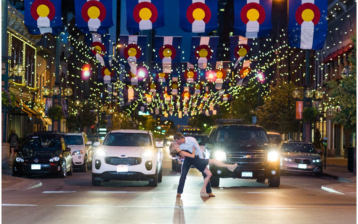 Downtown Denver Engagement Photos | Bryan + Krista