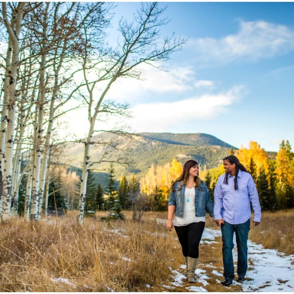 Colorado Mountain Engagement Photos | Alicia + Micael