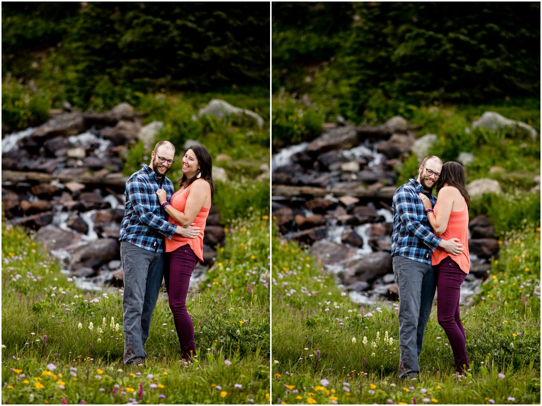 Mountain Stream Engagement Photography