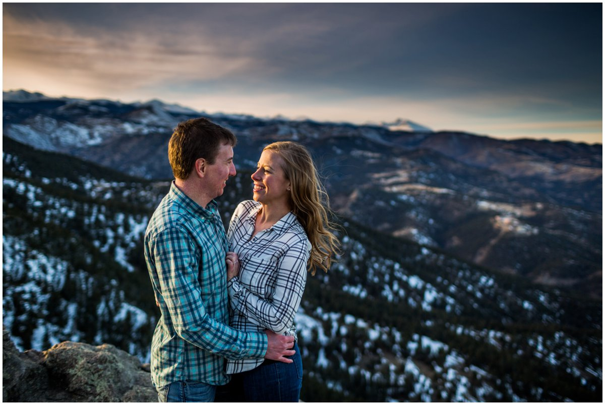 Winter Mountain Engagement Photography