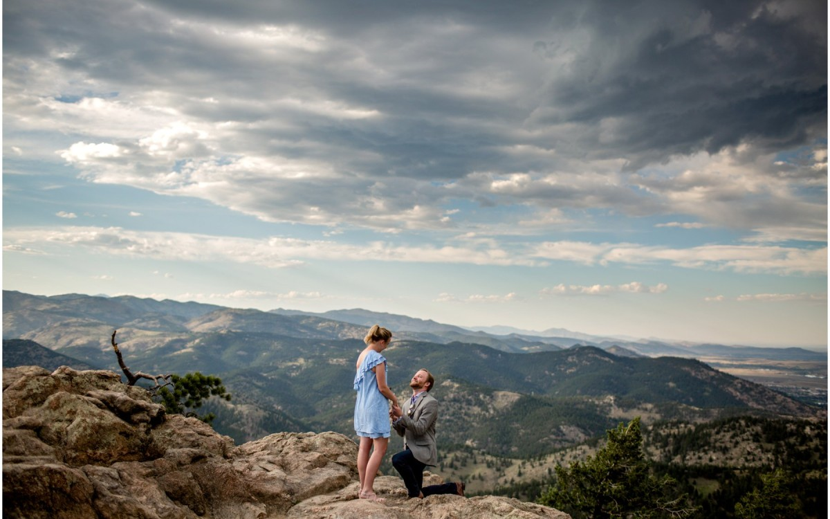 Boulder Colorado Mountain Proposal | Wes + Rebecca