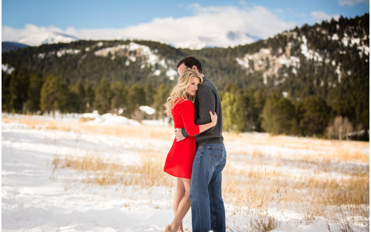 Evergreen Colorado Winter Engagement Photos | Erin + Josh