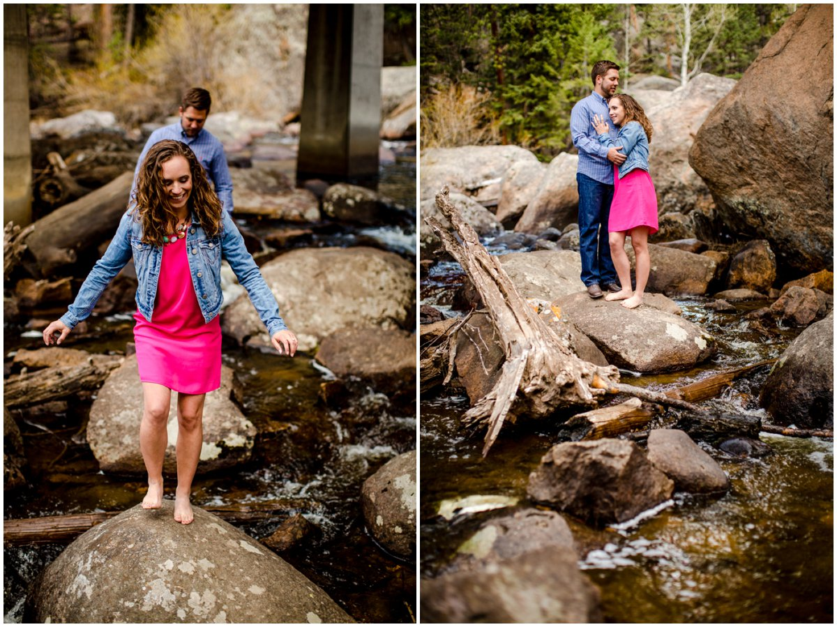 River Engagement Photography